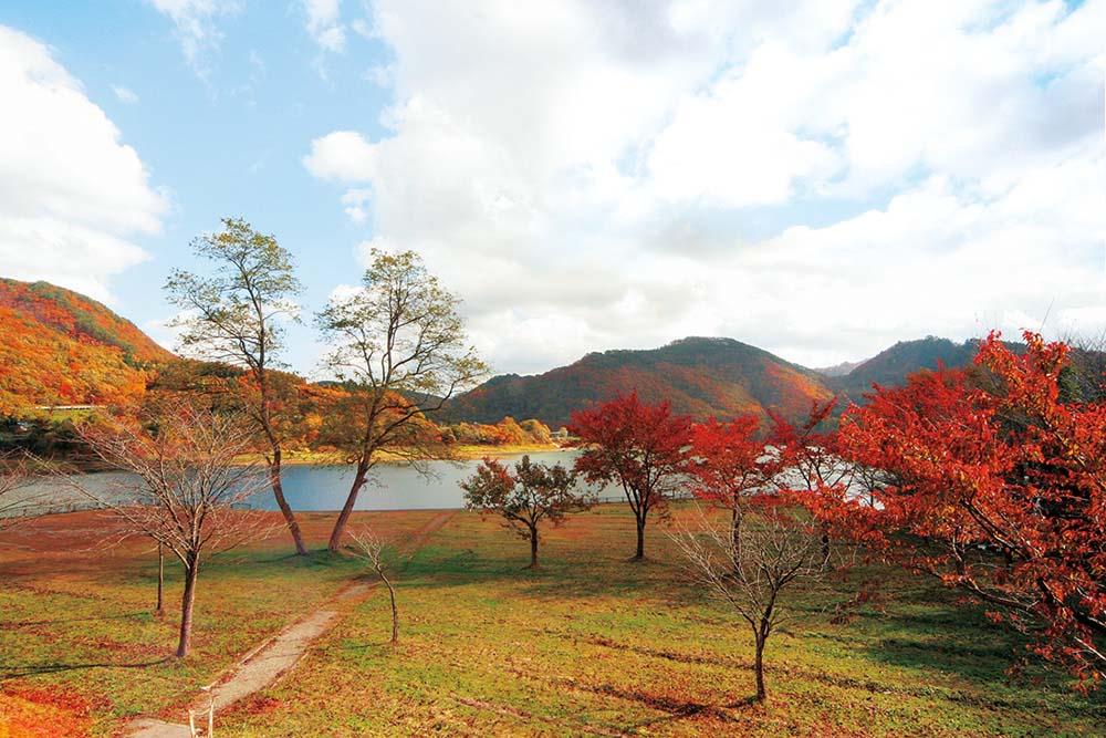 西和賀町川尻湖畔公園