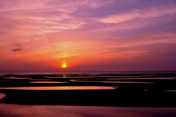 真玉海岸の夕焼け