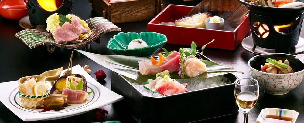 自家源泉の宿富士屋料理
