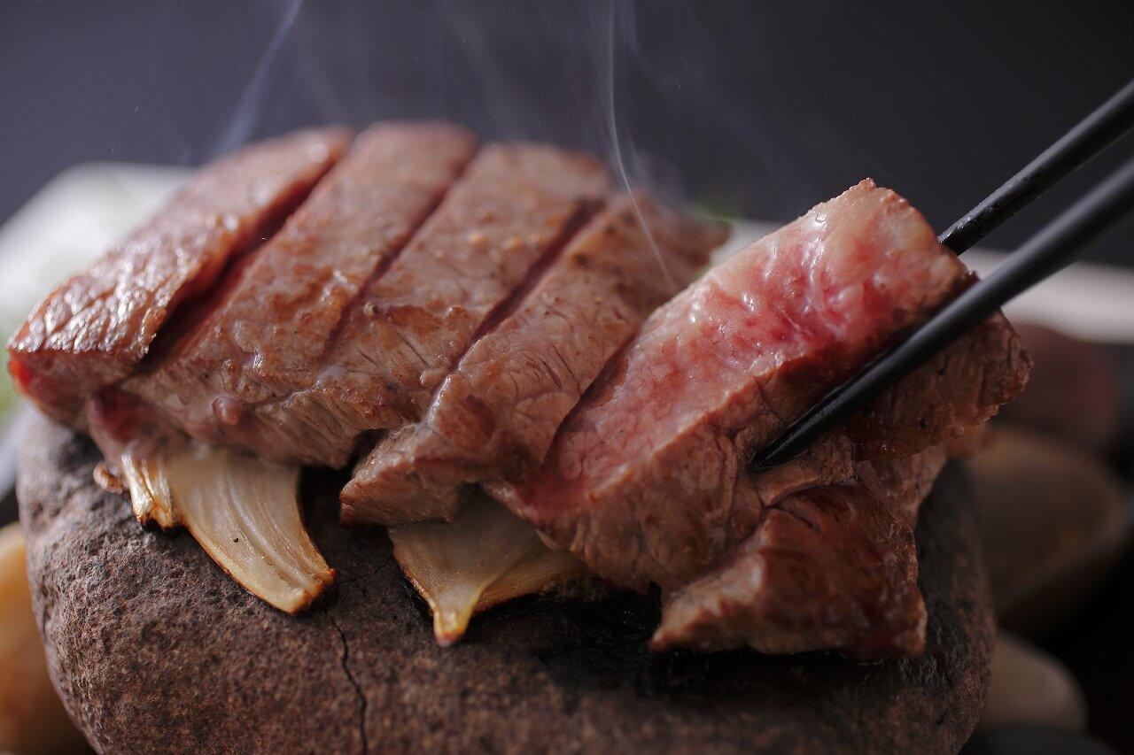 さかえや 信州牛の石焼ステーキ