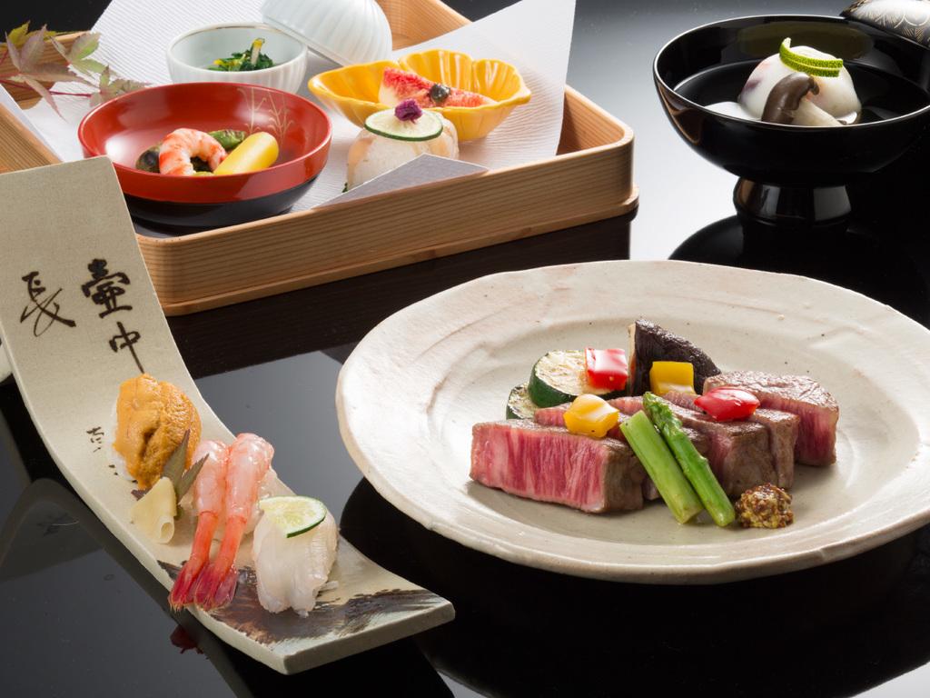 まつさき 寿司と和牛ヒレステーキ付贅沢懐石jpg