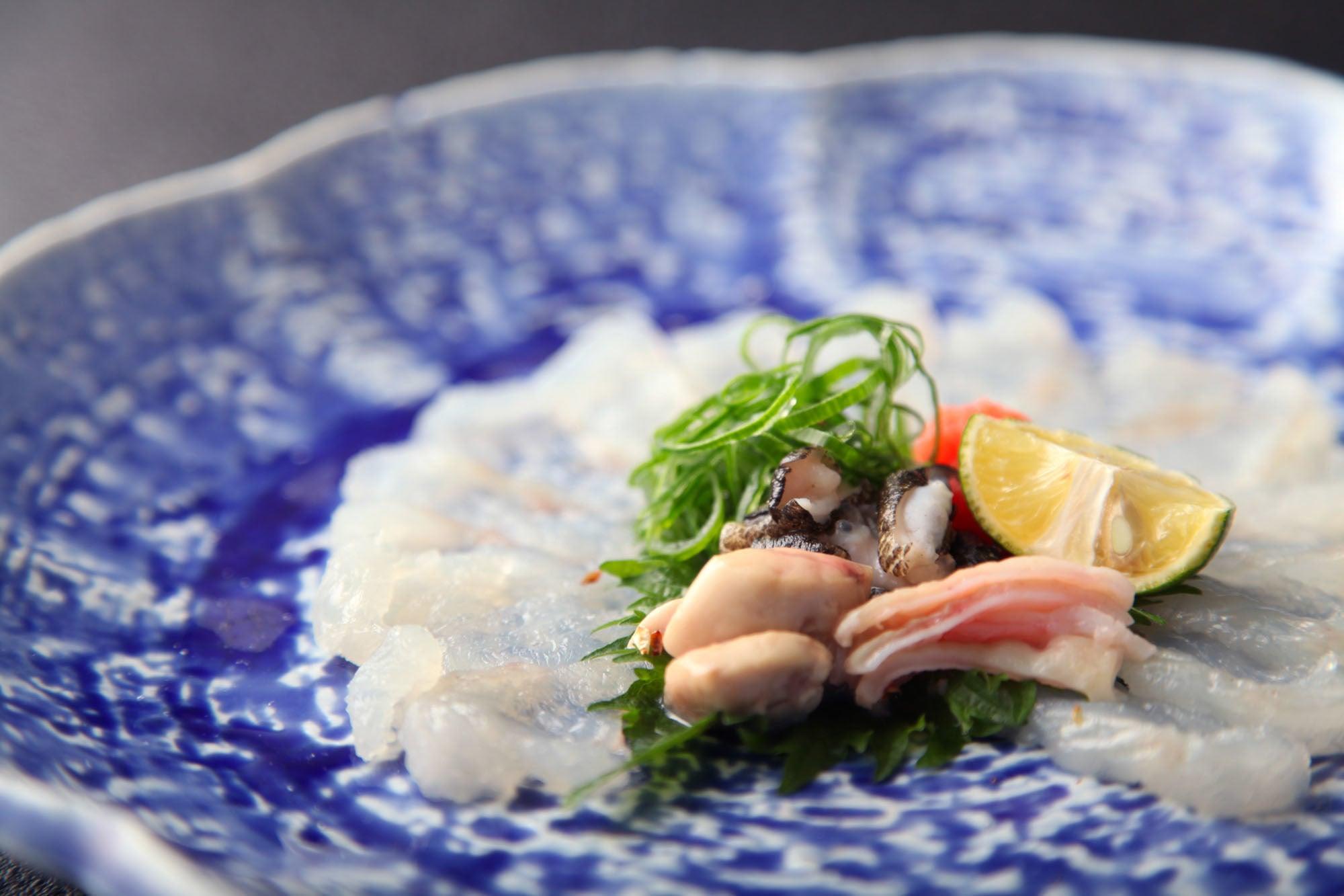 アオアヲ 徳島県産虎魚(オコゼ)お造りまたは唐揚げ