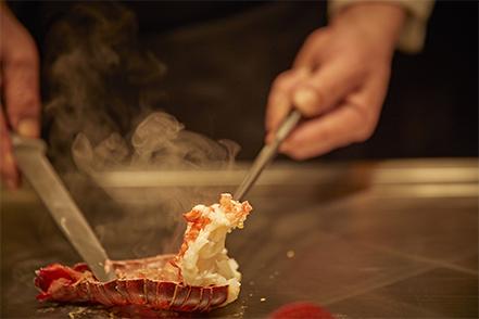 ザベイスイート 鉄板焼きレストラン「山吹」海の幸コース
