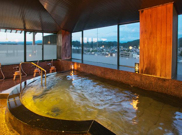 飛騨高山の温泉旅館(宿)本陣平野屋-花兆庵のお風呂