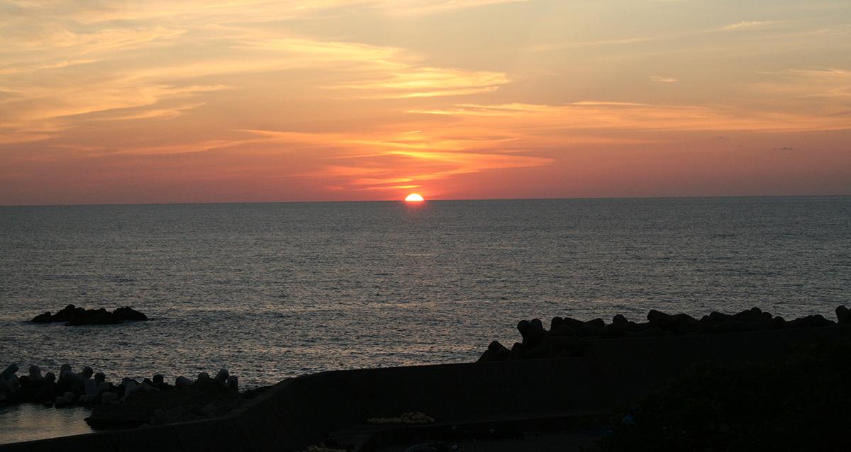 鷹巣荘夕陽